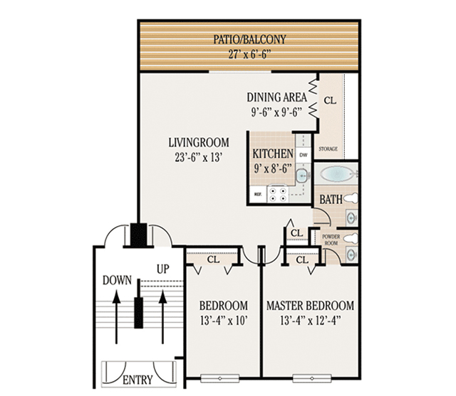 Floor plans woodbourne apartments for rent in levittown pa for 850 sq ft house plans